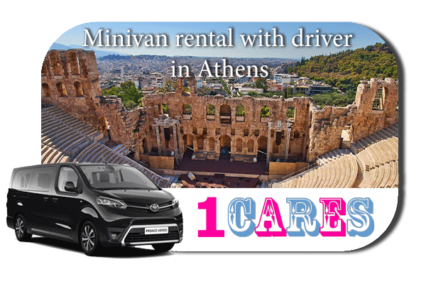 Hire a minivan with driver in Athens