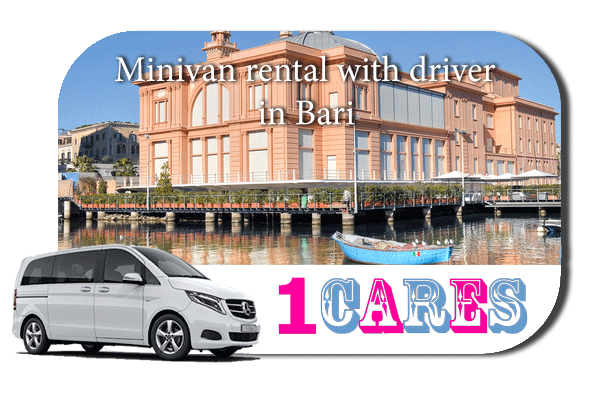 Rent a minivan with driver in Bari