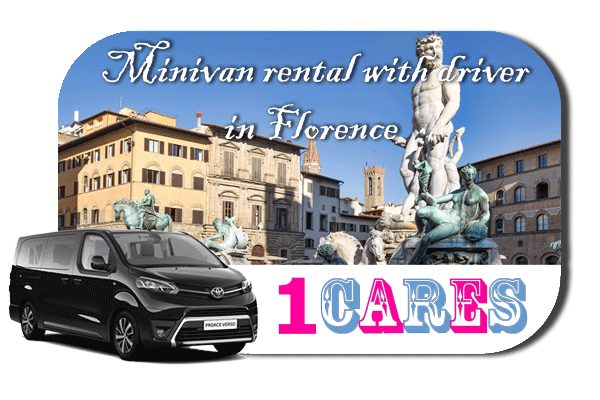 Hire a minivan with driver in Florence