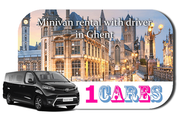 Hire a minivan with driver in Ghent