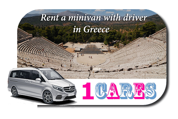 Rent a minivan with driver in Greece