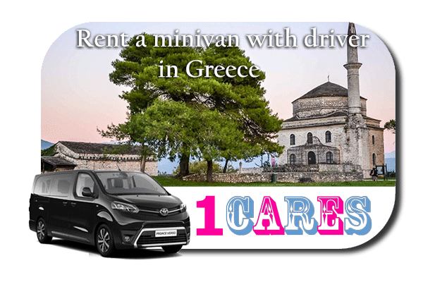 Hire a minivan with driver in Greece