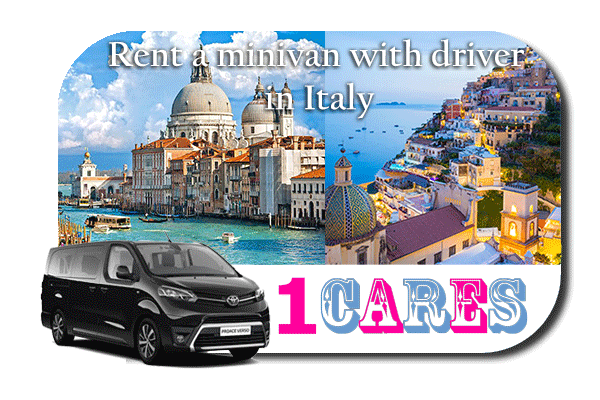 Hire a minivan with driver in Italy