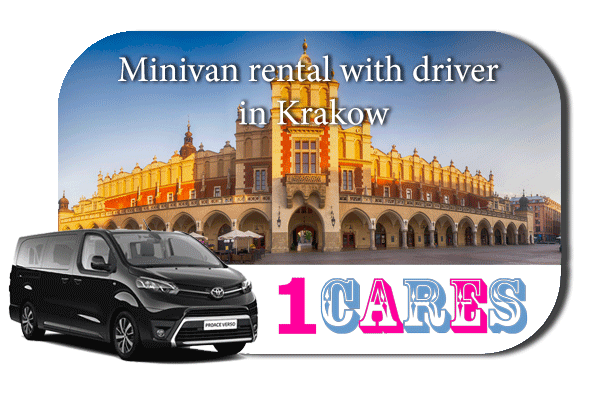 Hire a minivan with driver in Krakow