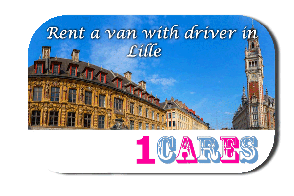 Hire a minivan with driver in Lille