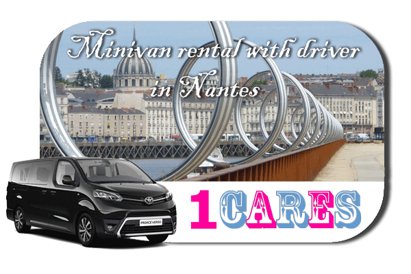 Hire a minivan with driver in Nantes