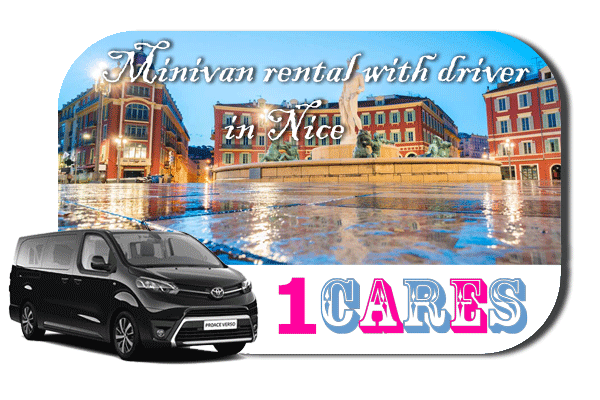 Hire a minivan with driver in Nice
