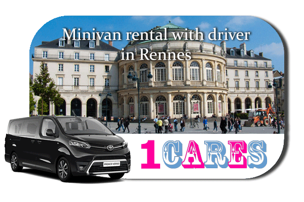 Hire a minivan with driver in Rennes