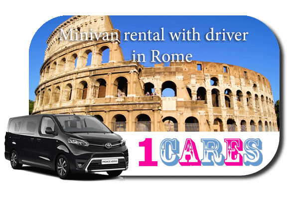 Hire a minivan with in Rome