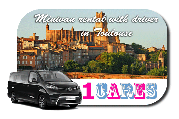 Hire a minivan with driver in Toulouse