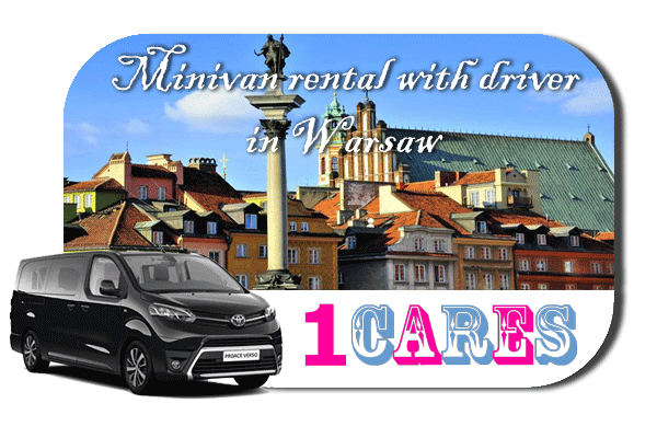 Hire a minivan with driver in Warsaw