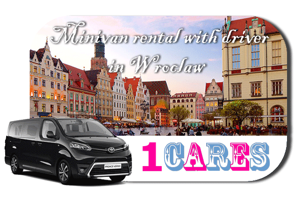 Hire a minivan with driver in Wroclaw
