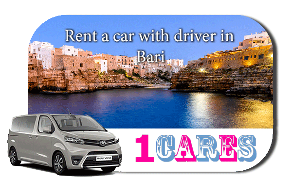 Hire a car with driver in Bari