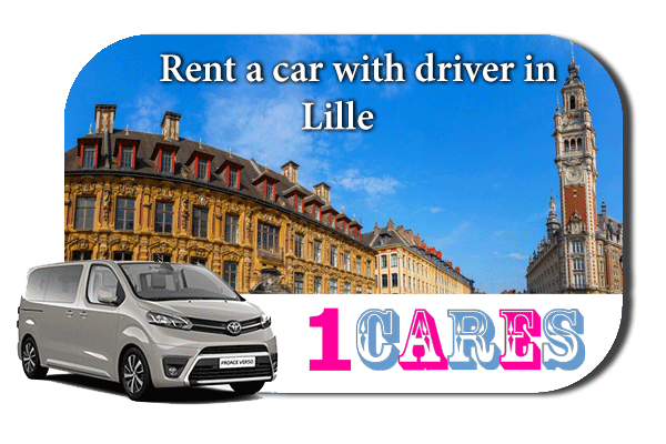 Hire a car with driver in Lille