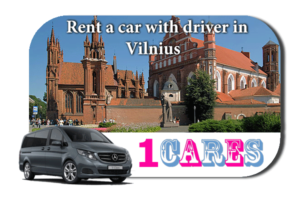 Hire a car with driver in Vilnius