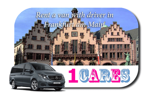 Minibus rental with driver in Frankfurt