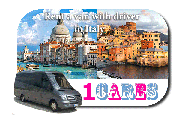 Rent a van with driver in Italy