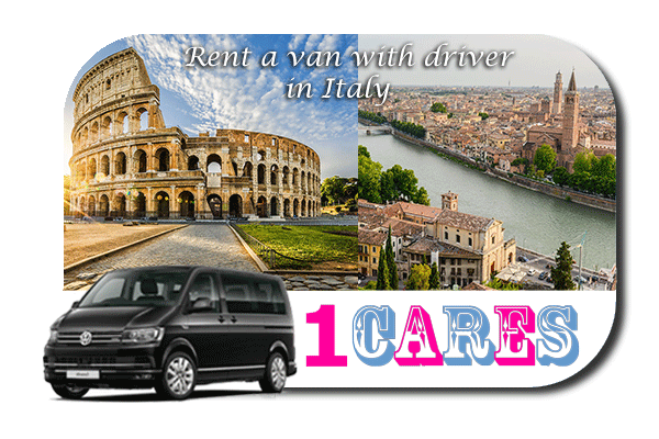 Hire a van with driver in Italy
