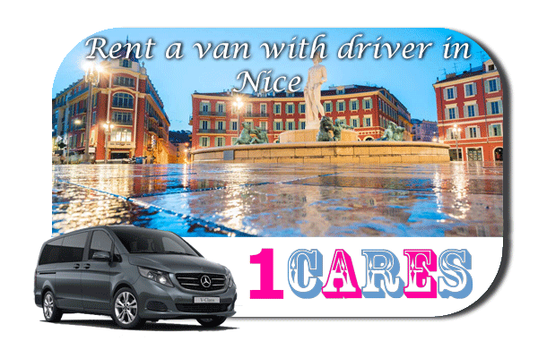 Hire a van with driver in Nice