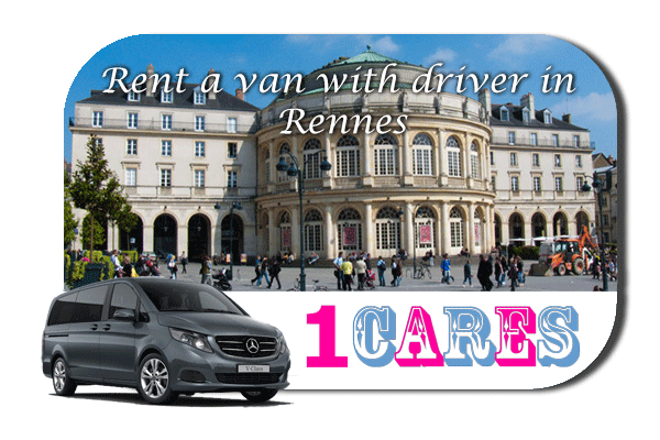 Hire a van with driver in Rennes