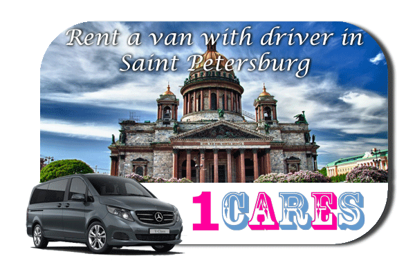 Hire a van with driver in Saint Petersburg
