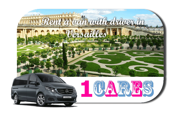 Minibus rental with driver in Versailles