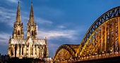Cologne Cathedral and bridge Hohenzollern