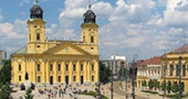Kossuth Square and the Protestant Great Church of Debrecen (Nagytemplom)